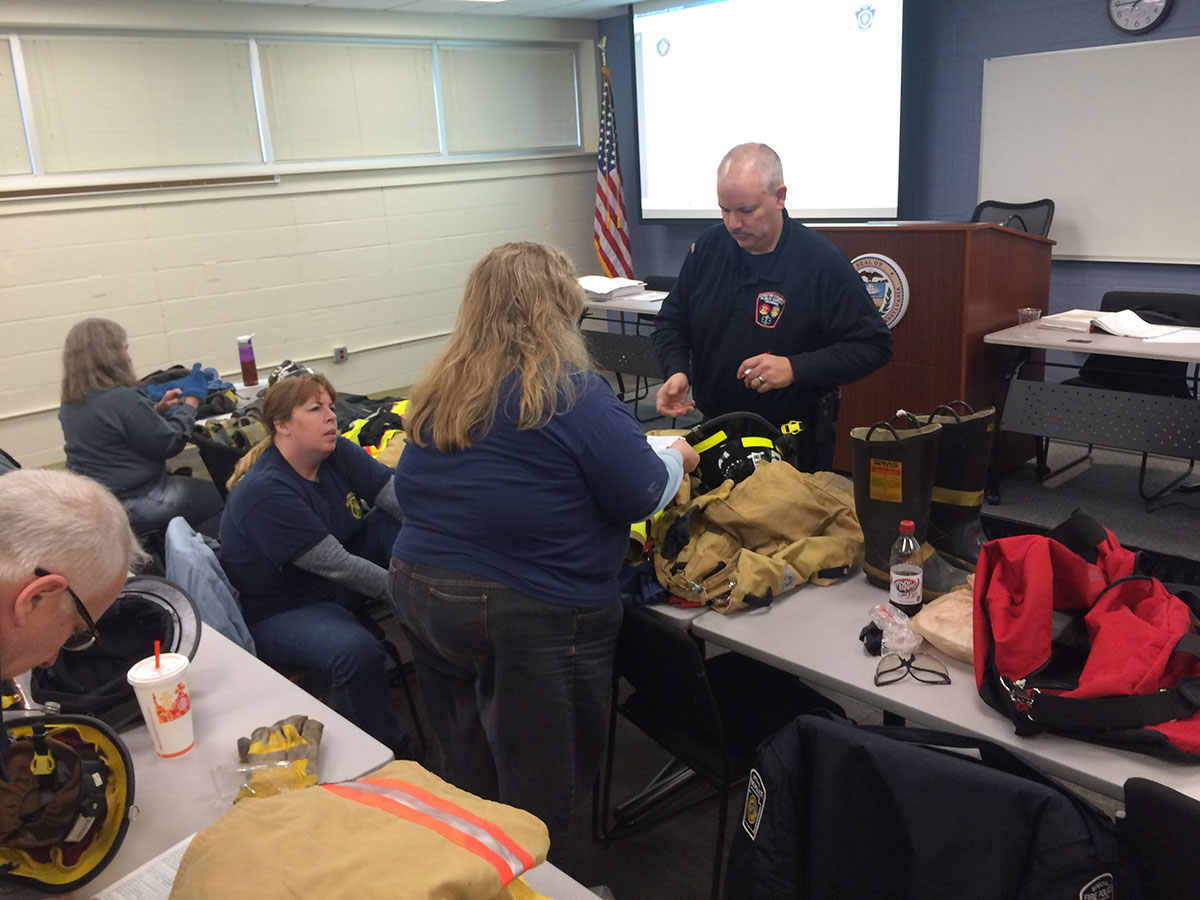 Chester County Fire Police Take Introduction to the Fire Service for Fire Police Course