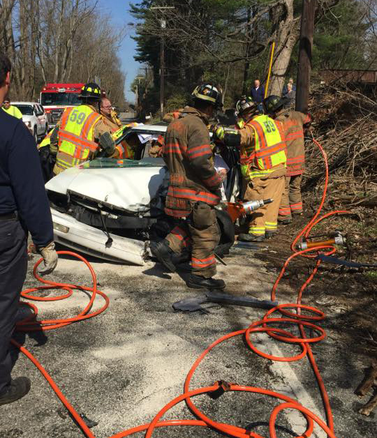 Wednesday March 23, 2016 Motor Vehicle Accident with Entrapment