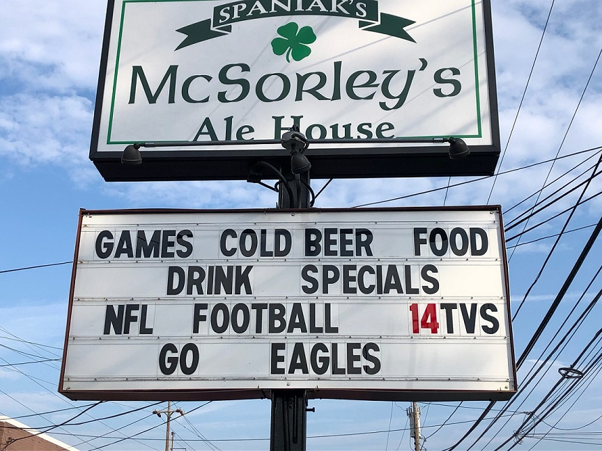 NFL FOOTBALL ON 14 BIG SCREEN TV'S.  STOP IN FOR DRINK SPECIALS AND GIVE AWAYS.