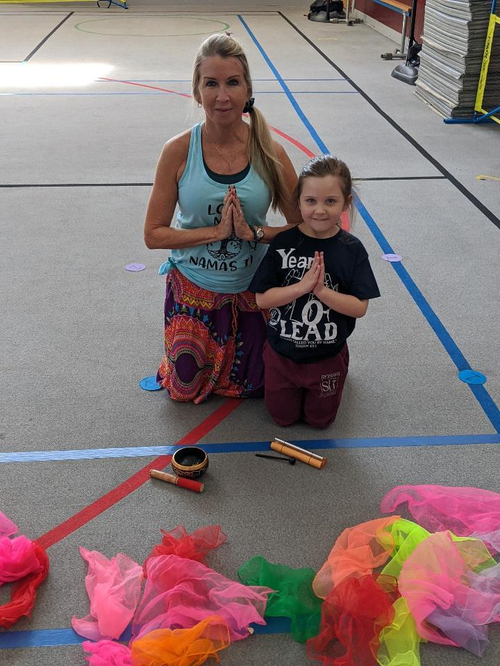 Terri and her Mini Yoga helper Emily !!!